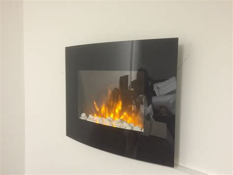 2018 New Truflame Wall Mounted Arched Glass Electric Fire