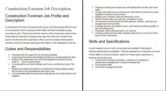 Construction Worker Resume Duties by Construction Worker Description For Resume