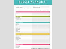 printable monthly expense sheet free