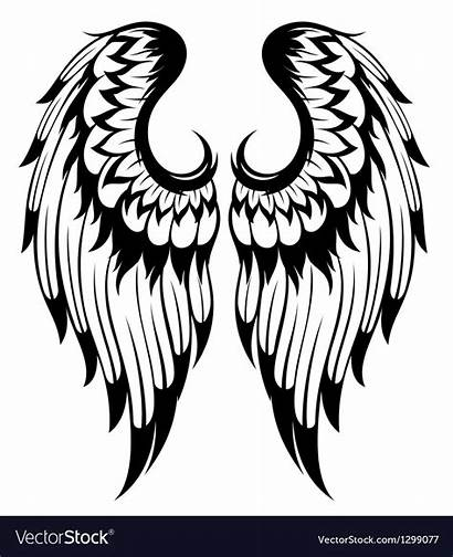 Wings Angel Vector Clipart Vectorstock Wing Royalty