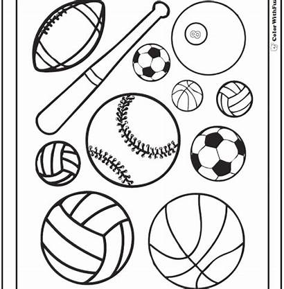 Coloring Pages Sports Equipment Printable Sport Getcolorings