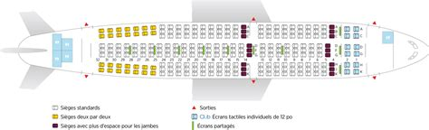 plan siege air airbus a310 300 air transat
