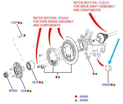 ba bf fg ford falcon rear suspension arm knuckle bush sx sy sz territory ebay