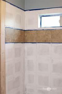 how to tile How to Paint Shower Tile - Remington Avenue