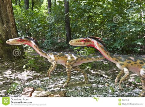 Two Small Dinosaurs Stock Photography Image 25531942