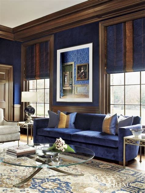 Pick out one wall to paint a warm brown hue. 26 Cool Brown And Blue Living Room Designs - DigsDigs