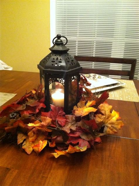 easy diy fall decor used lantern from wedding as the