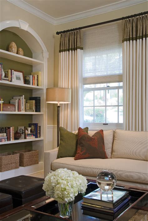 Houzz Living Room Curtains by Colonial Revival