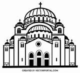 Church Clip Vector Clipart Dome Orthodox Graphics Clipartix Christian Religion Cartoon Clipground Cliparts Vectors Related 2526 sketch template