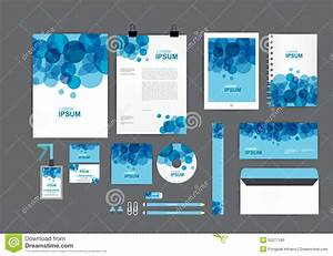 Letter Sheet Stationery Blue And White Corporate Identity Template For Your