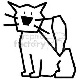 royalty  black  white stick pet cat  vector