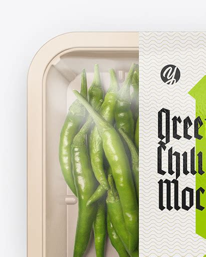 The best free mockups on the internet. Plastic Tray With Red Chili Peppers Mockup