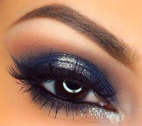 makeup ideas  game day eye makeup blue dress blue makeup glitter eye makeup