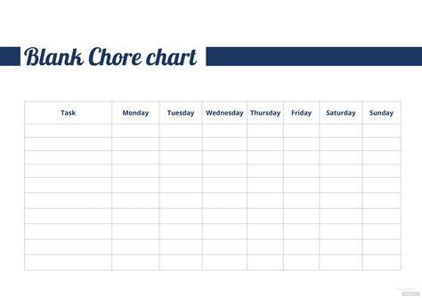 blank chore chart template  microsoft word templatenet
