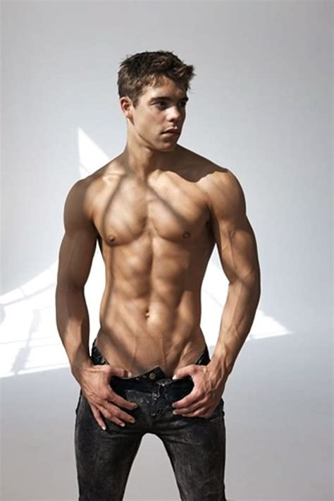 shirtless hot male model sexy chest abs  shape  jeans