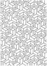 Coloring Pages Geometric Adult Pattern Printable Designs Adults Tessellation Patterns Colouring Dover 3d Sheets Books Print Publications Doverpublications Aztec Mandala sketch template