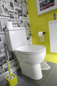 Papier Peint Pour Wc : 1001 id es d co toilettes originales changer le ~ Nature-et-papiers.com Idées de Décoration
