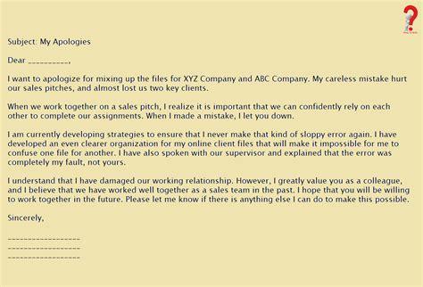 write apology letter  boss   sample
