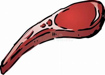 Lamb Chop Raw Vector Sketch Icon Illustration