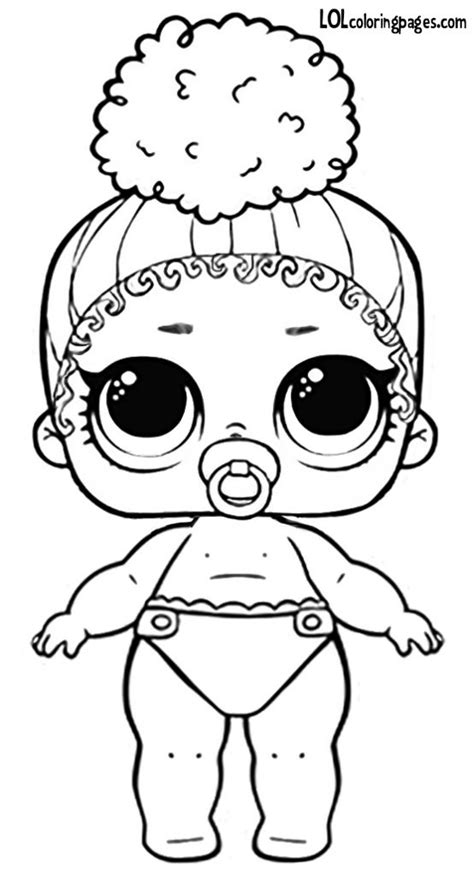 lil boss queen series  wave  lol surprise doll coloring page toys pinterest coloring