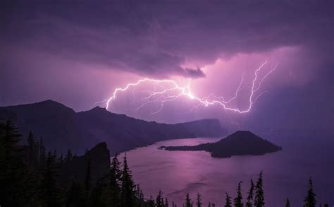 amazing nature  mighty lighting strikes  water