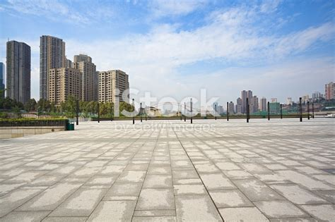 city top flore background empty marble floor with city building background stock photo more pictures of 2015 istock