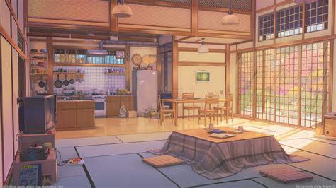 Anime Room Wallpaper - 1920x1080 anime room kitchen inside the
