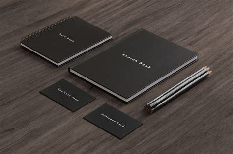 business card notepad led pencil sketchbook cover