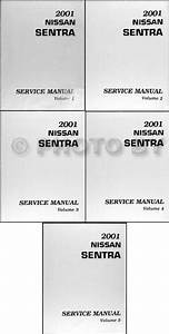 2001 Nissan Sentra Repair Shop Manual Original 5 Volume Set