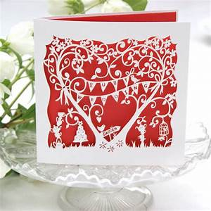 ruby wedding anniversary card laser cut by the hummingbird With images of ruby wedding anniversary cards