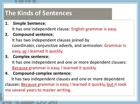 sentence structure ades