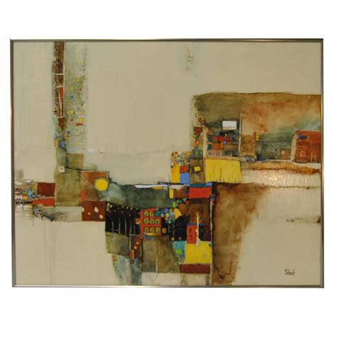 modern abstract on board by florida artist christine