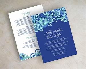 royal blue wedding invitation templates free yaseen for With wedding invitation blank template royal blue