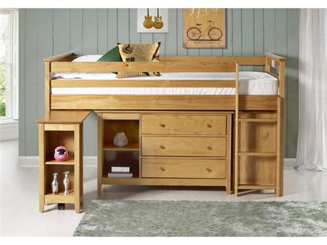 birlea cotswold mid sleeper bed  work station