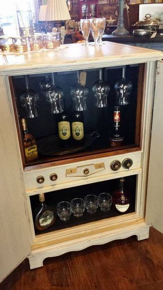 television repurposed   bar upcycling ideas