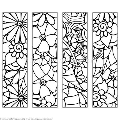floral bookmark coloring pages getcoloringpagesorg