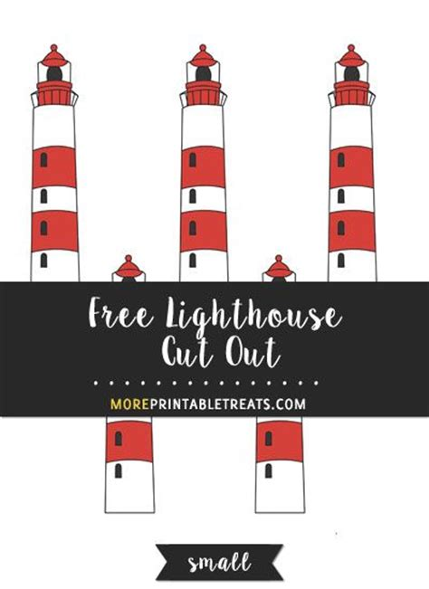 lighthouse cut  small pirate party printables