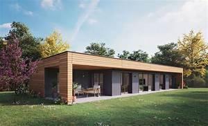 Maison Moderne  U00e0 Ossature Bois  U0026 Bardage Bois En 2020