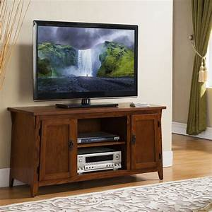Leick Mission Oak Two Door 50 U0026quot  Tv Stand