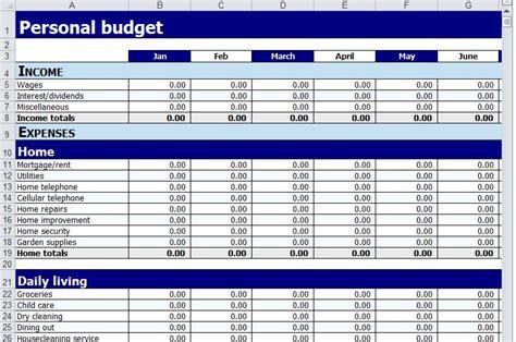 personal budget planner spreadsheet templates violeet