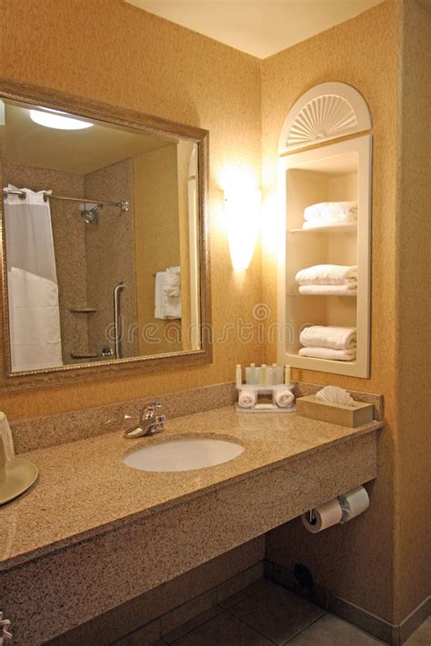 Hotel Bathroom Sink Area Stock Image Image  Faucet