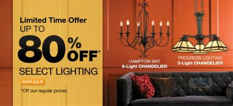 home depot canada only lighting sale save up to 82