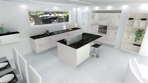 cuisine blanche sans poign馥 plan de travail cuisine blanche maison design bahbe com