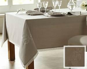 linge de table brode papillons coton chambray becquet With nappes maison du monde