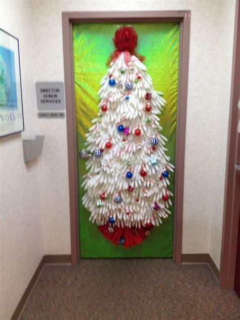 christmas door decor  nurses   surgical gloves