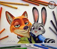 Cartoon Colored Pencil Drawings