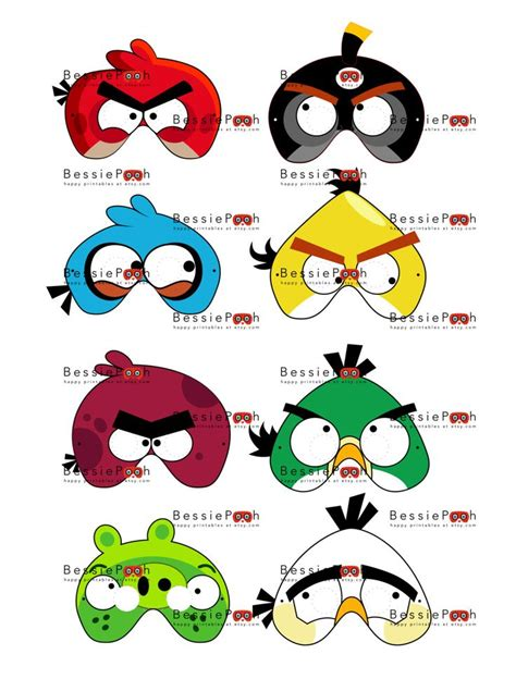 angry bird masks costumes bird masks face painting