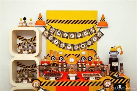 construction party fun birthday party trucks birthday