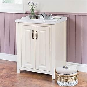 Standwaschbecken Mit Unterschrank : smooth ivory 600mm stand unterschrank mit waschbecken ~ Frokenaadalensverden.com Haus und Dekorationen