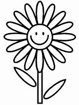 Daisy Coloring Cartoon Flower Flowers Printable Colored Sheet Clipart sketch template